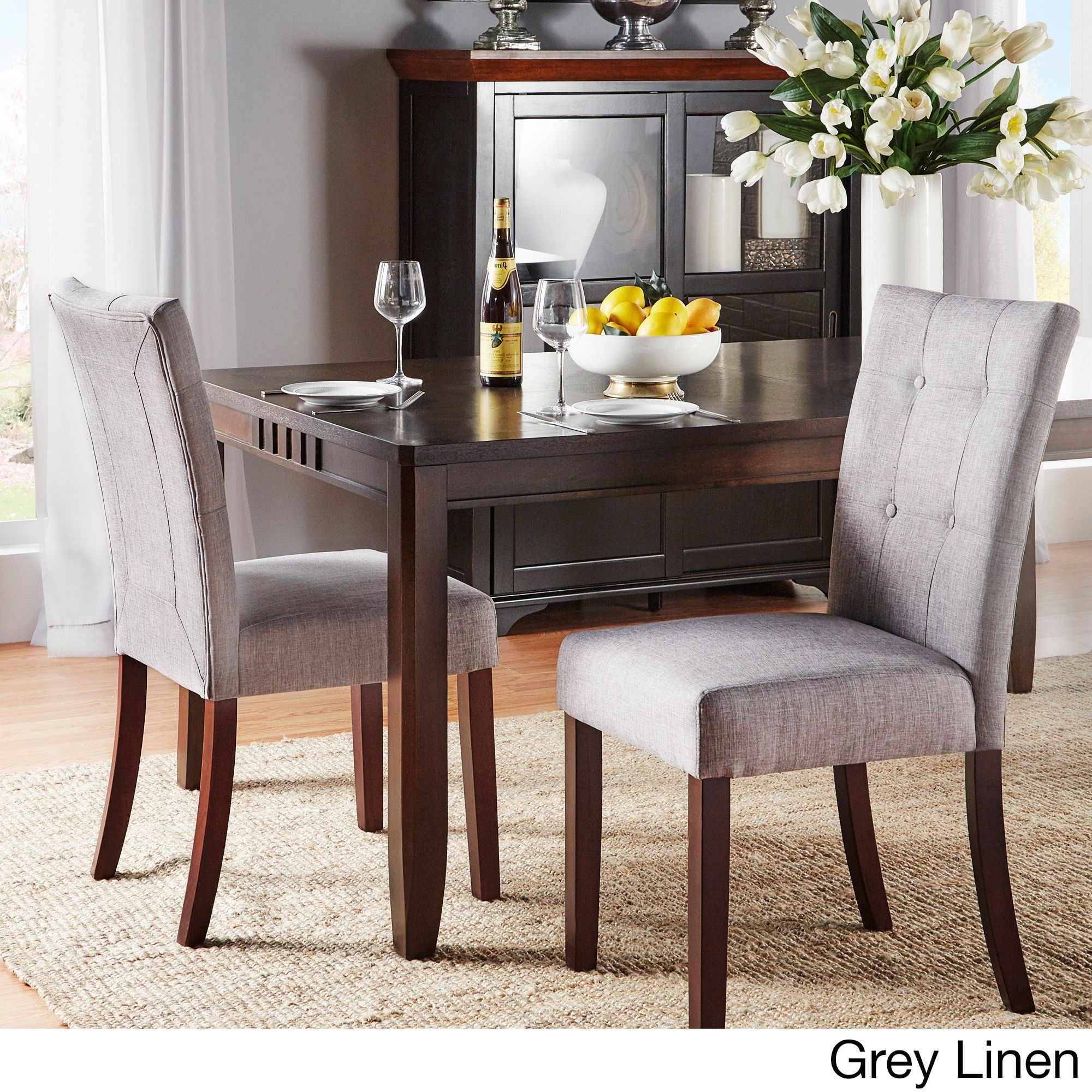 hutton upholstered dining chairs set of 2 by inspire q classic rh pinterest com