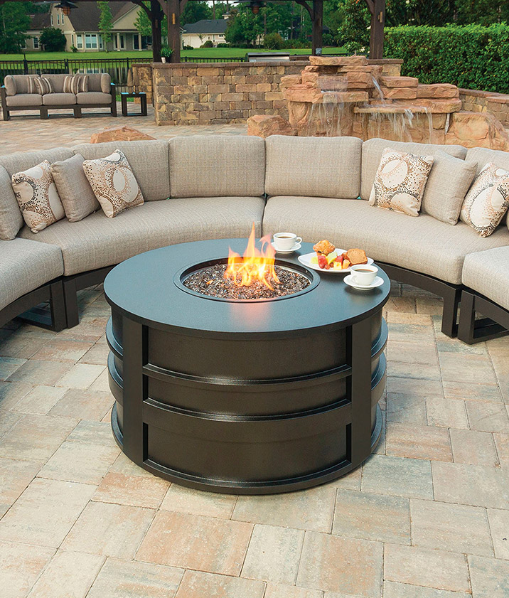luxury palermo fire pit outdoor living outdoor furniture sets rh pinterest com