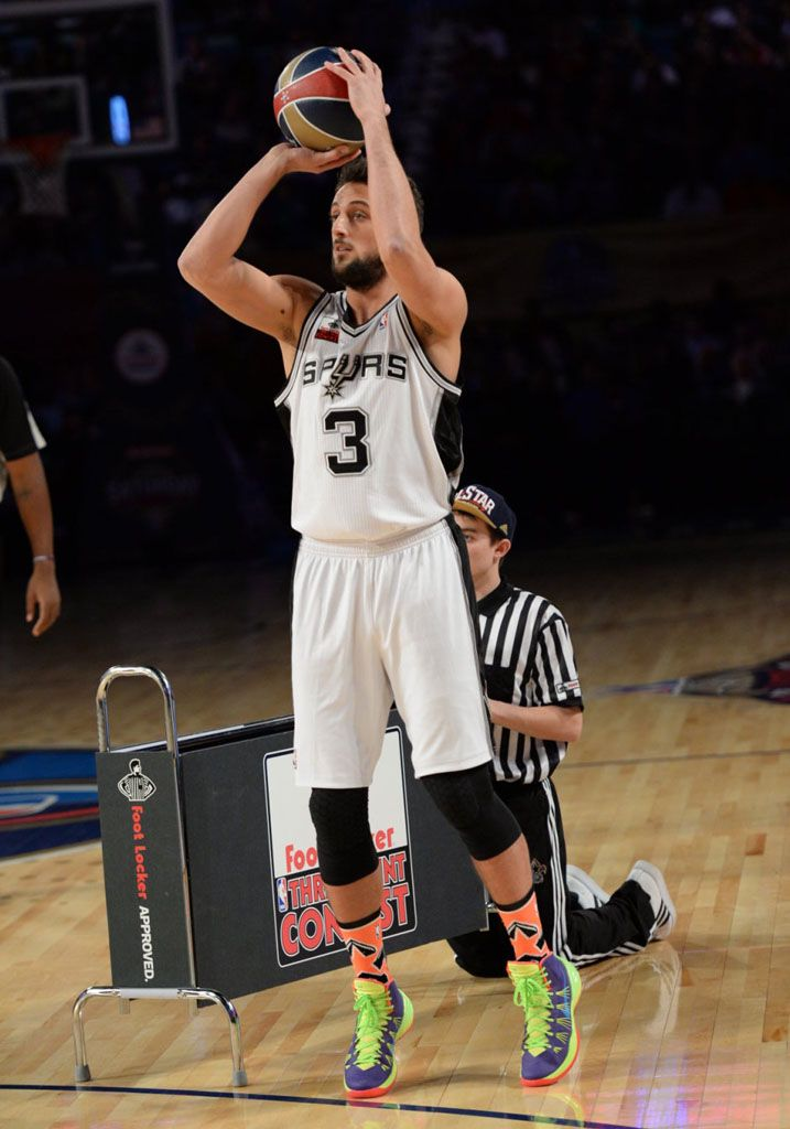 best website c669f d3a2b  Marco Belinelli wearing  Nike  Hyperdunk 2014 PE Three Point Contest, Nike  Id