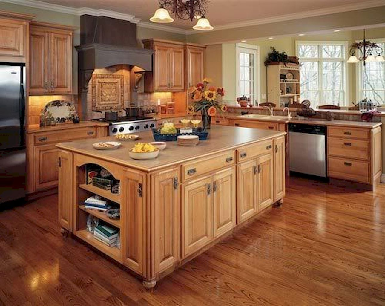 125 Stuning Kitchen Cabinets Design Ideas And Remodel To Inspire Your Kitchen Kitch Maple Kitchen Cabinets Rustic Kitchen Cabinets Beautiful Kitchen Cabinets