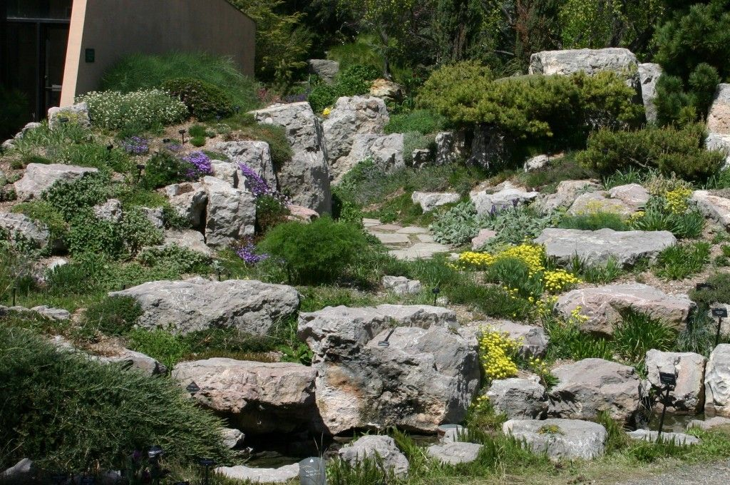 A rock garden can provide a tranquil area where one can