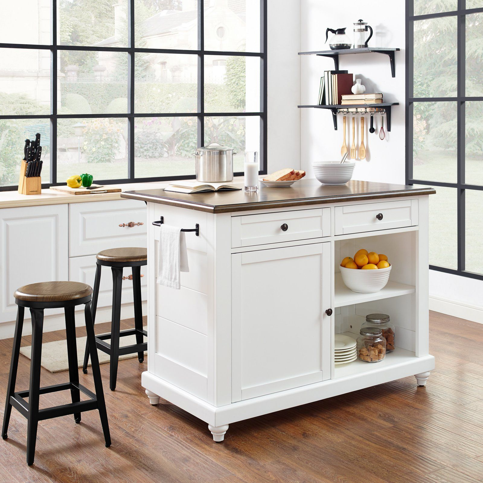 dorel living kelsey kitchen island with stools products in 2019 rh pinterest com