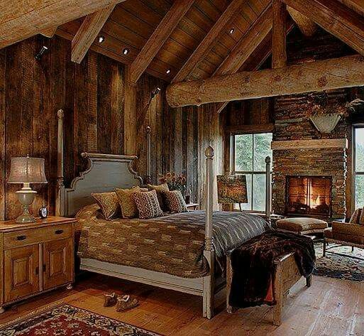 this is a real cozy bedroom rustic lodge and cabin in 2019 rh pinterest com