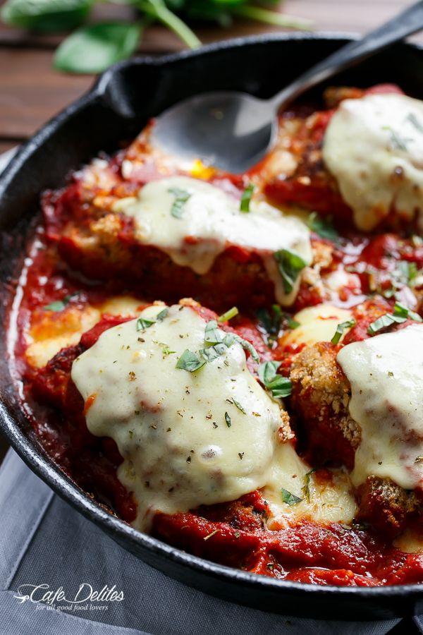 One Pan Mozzarella Stuffed Chicken Parmesan Recipe Best Comfort