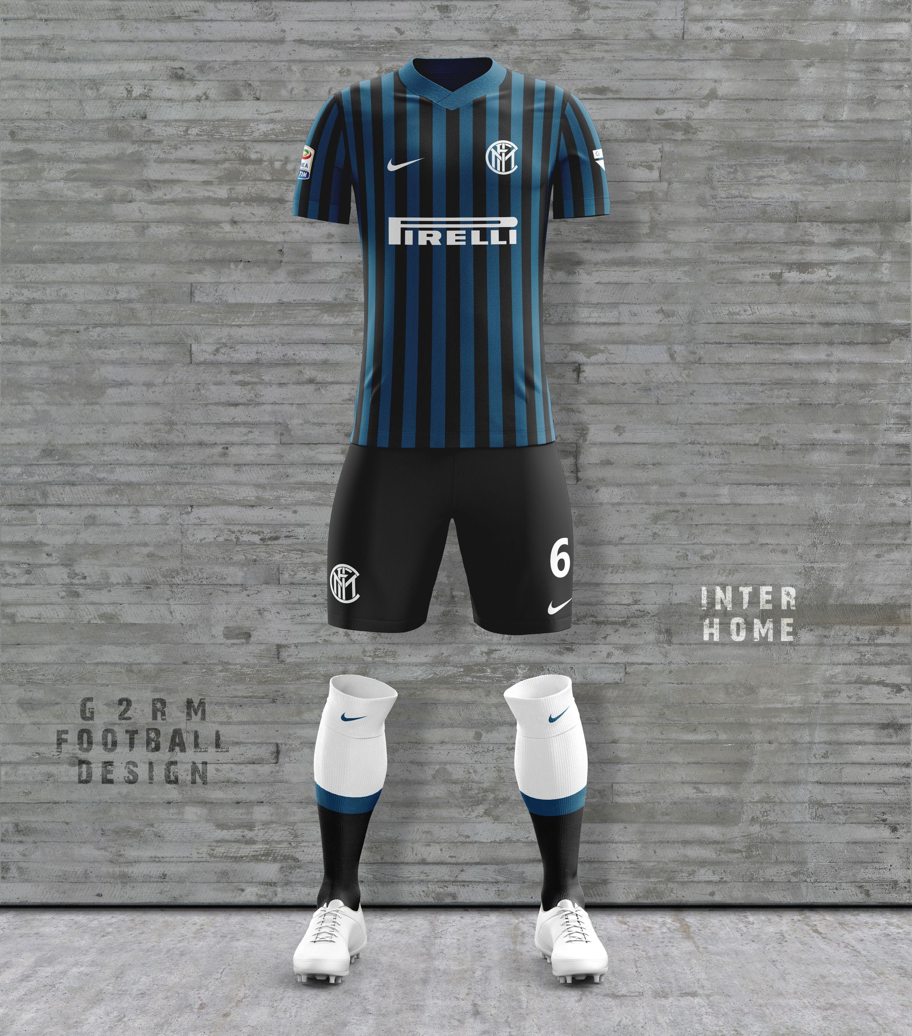 0df2bb1877 Inter Concept Kit designed by G2RM Uniformes Futebol, Camisas De Futebol,  Esportes, Design