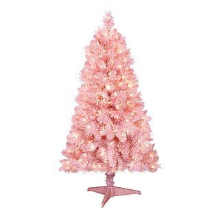 4 5 Ft Pre Lit Pink Cashmere Spruce Artificial Christmas Tree