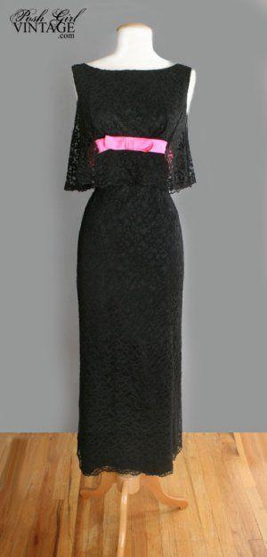Audrey Hepburn Dress 1960s Long Black Audrey Hepburn Style