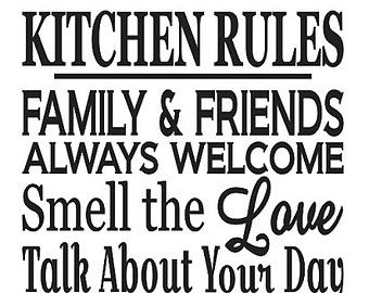 "Primitive Kitchen Stencil **kitchen Rules** Large 12""x24"" For Fascinating Kitchen Stencil Designs Decorating Design"