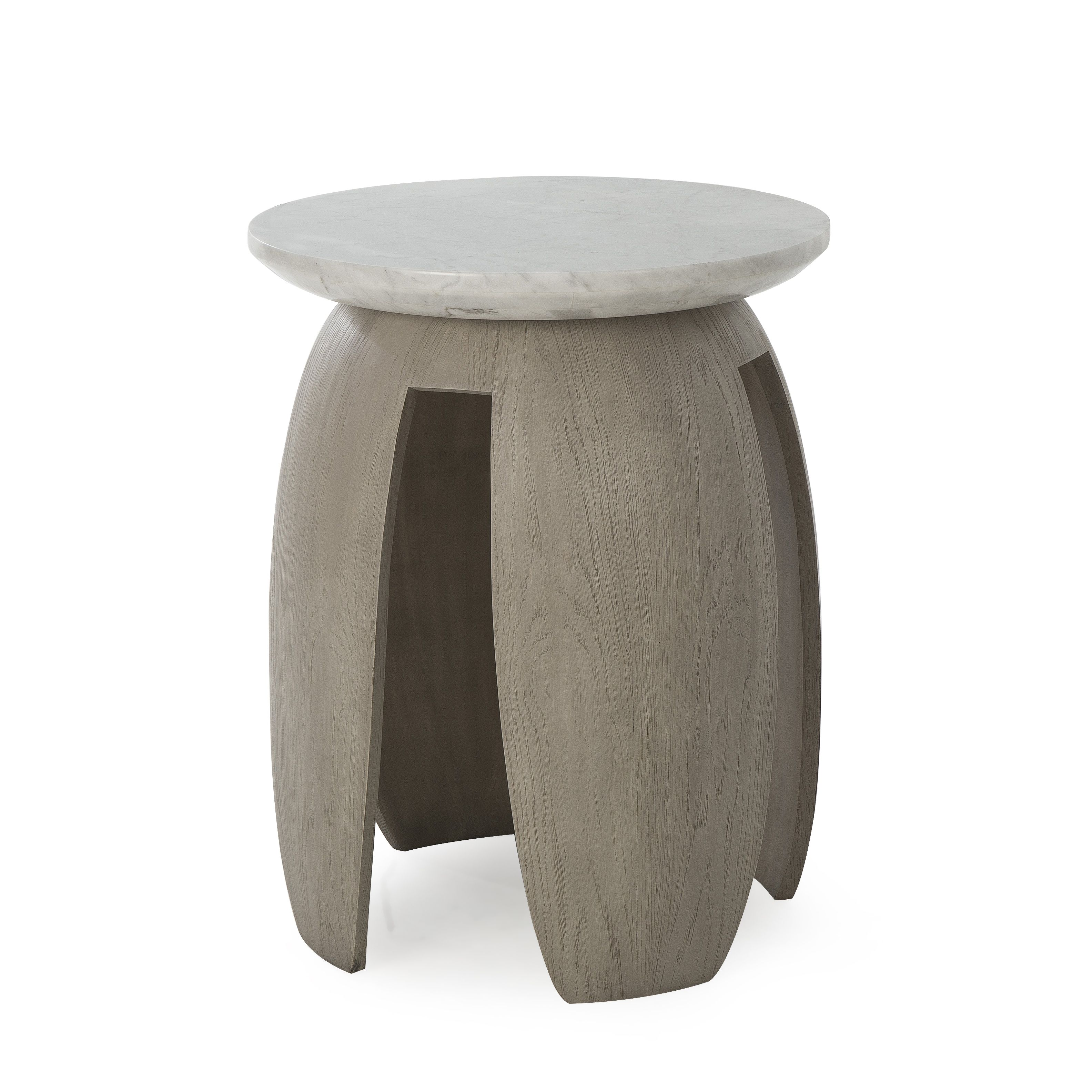 side table gray pedestal table this side table features a rh pinterest com