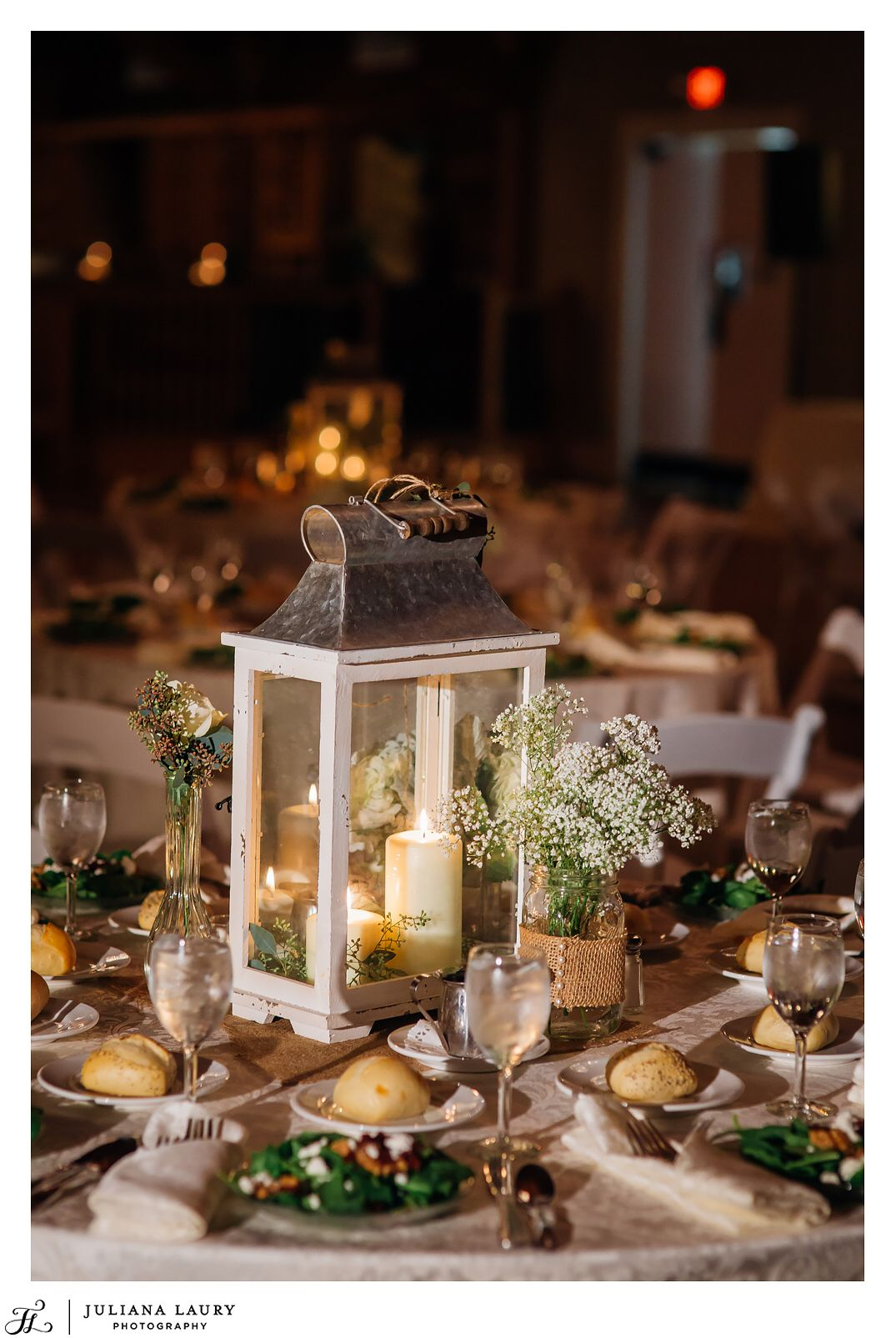 centerpieces for wedding receptions with candles%0A Baby u    s breath centerpiece