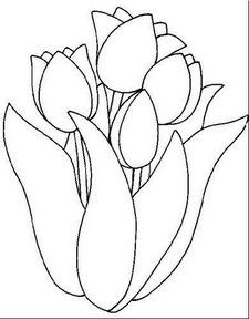 Tulipanes Para Colorear Flower Coloring Pages Flower Drawing Stained Glass Flowers