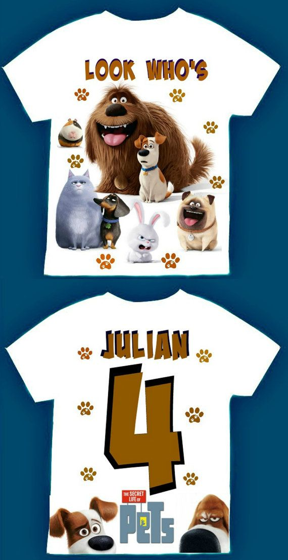 Secret Life Of Pets Birthday Boy T Shirt 12Months18Months2T3T4T5T6T Personalization Is Included At No Additional Cost