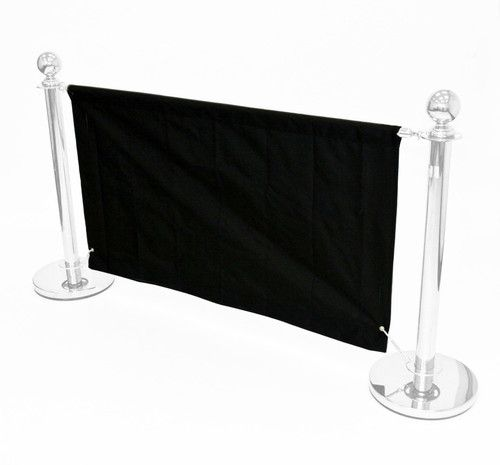 1.6 meter black banners for our cafe barrier systems, shop banners, cafe banners | eBay