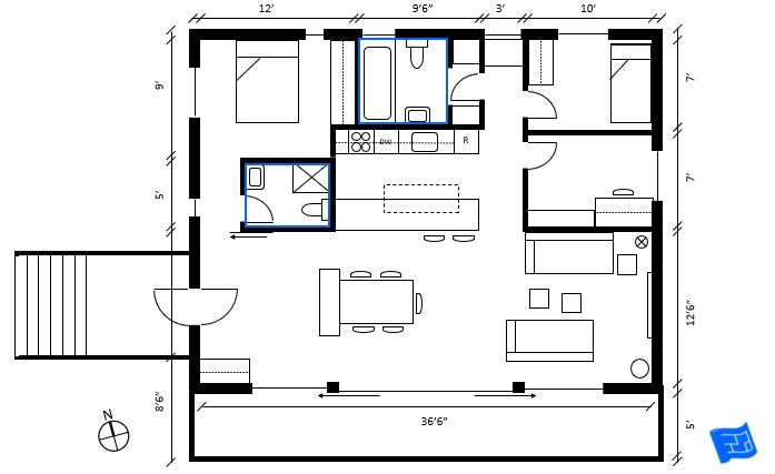 How To Read Floor Plans The Bathroom Layout Should Be Indicated On The Floor Plan Click Through To Www House Floor Plans Floor Plan Symbols Free Floor Plans