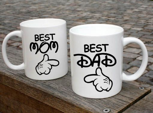 Best mom and best dad anniversary wedding gift couple mugs ceramic