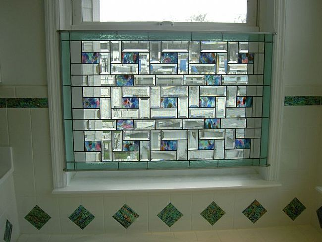 beveled stained glass window panel my idea is to hang this in rh pinterest com