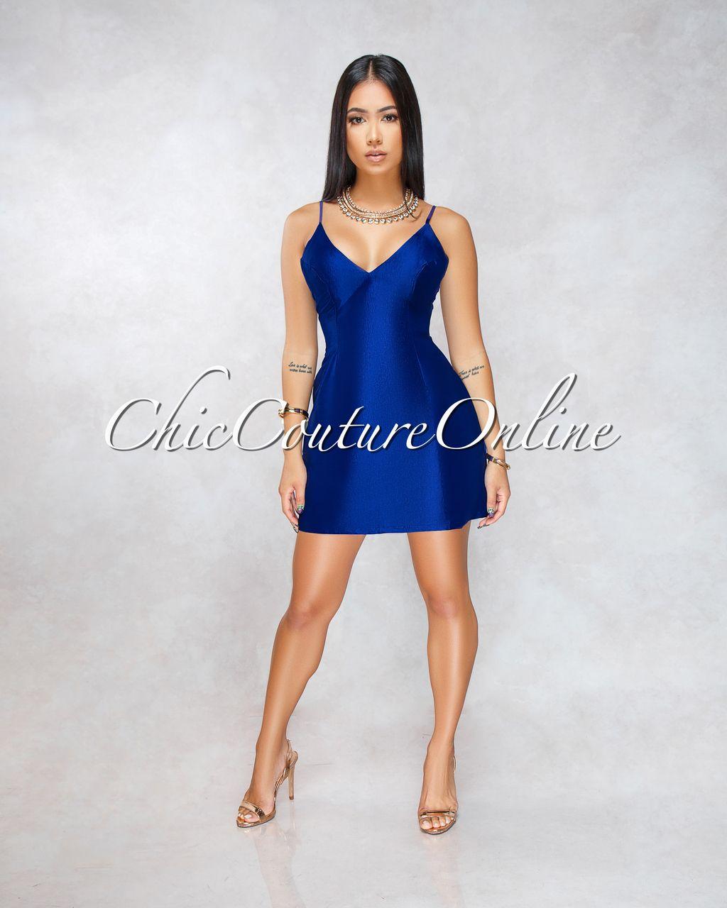 Royal blue n yellow dress  Berry Royal Blue Yellow Silky Pockets Mini Dress  Clothing  Chic