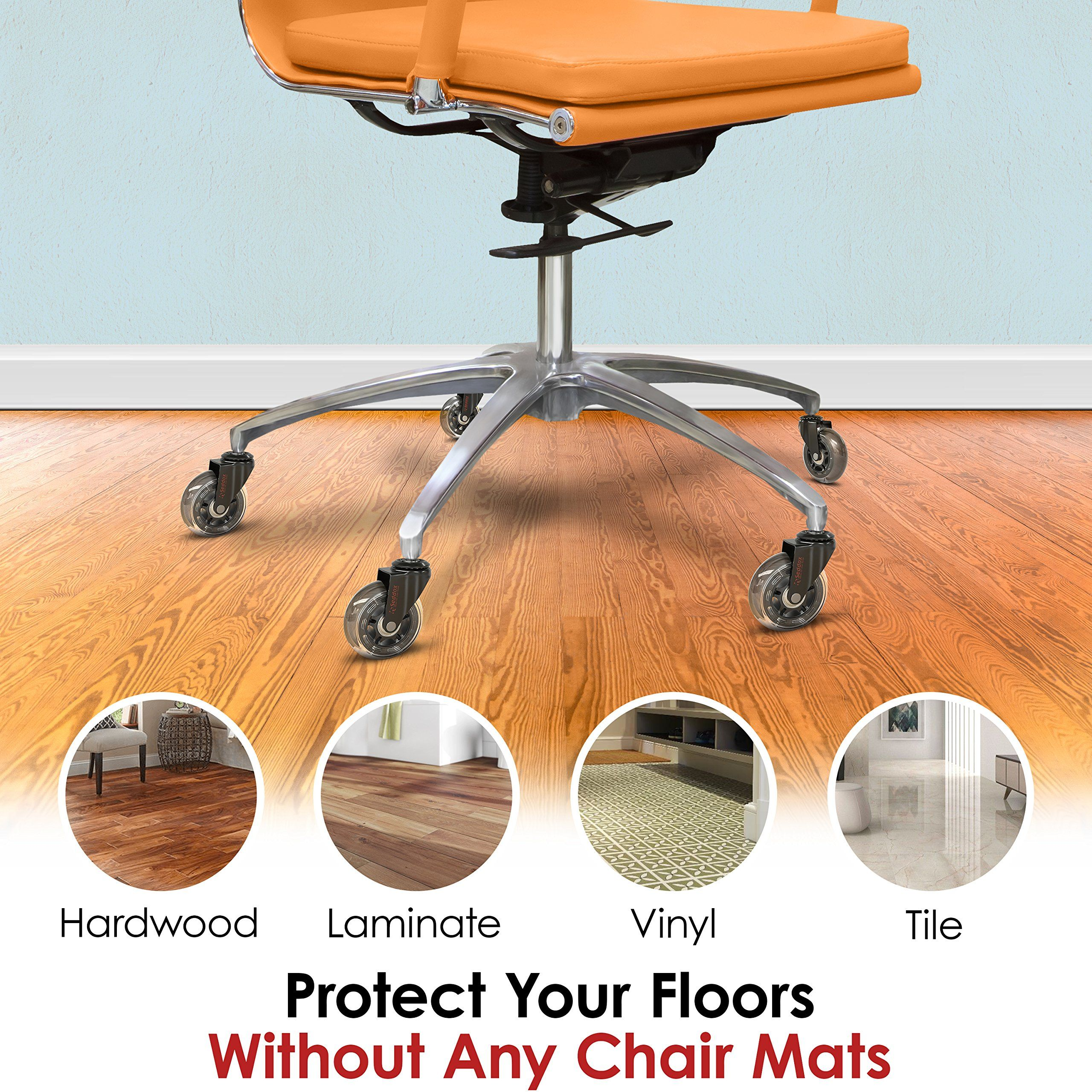 Office Chair Wheels Gift Set Of 5 Protect All Your Floors 3 Heavy