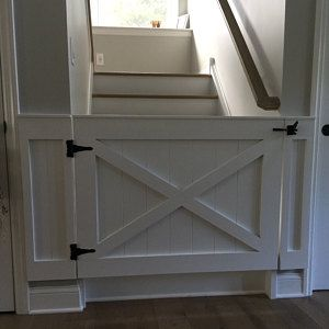 Rustic Dog Baby Gate Barn Door Style W Side Panels In 2018 Dog