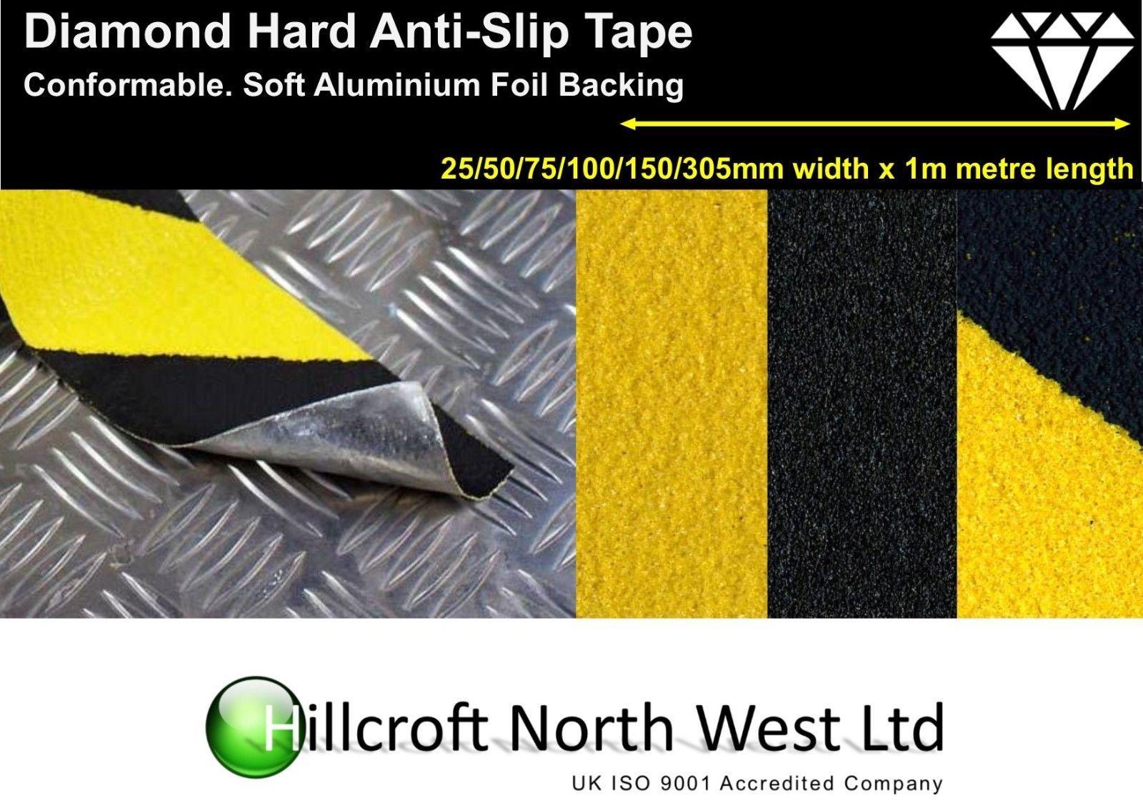 Conformable Diamond Hard Anti Slip Foil Tape Self Adhesive Black ...