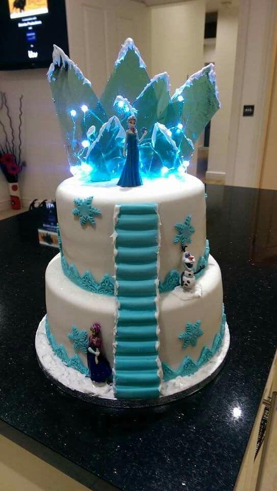 Frozen light up cake Diya 5th bday Pinterest Cake Birthdays