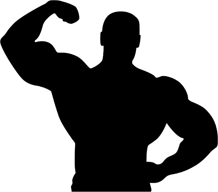 Muscle Man Png Image Silhouette Muscle Men Gym Art