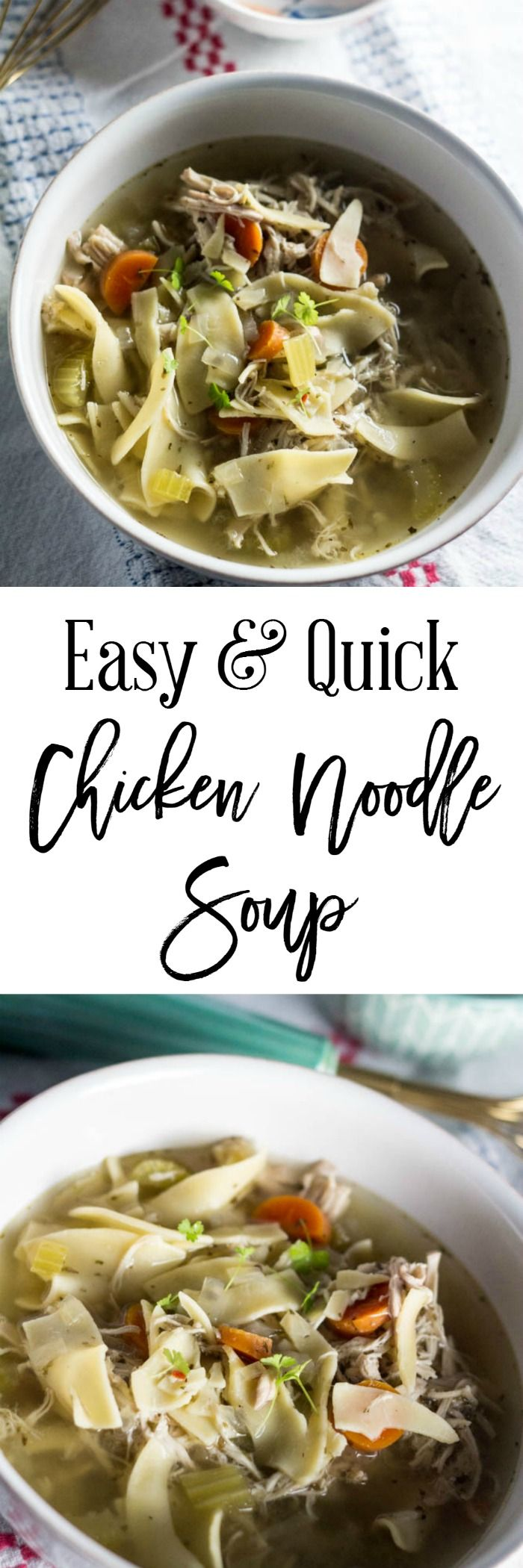easy and quick chicken noodle soup  an easy recipe that