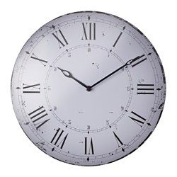 BITNIK Wall clock metal white  IKEA