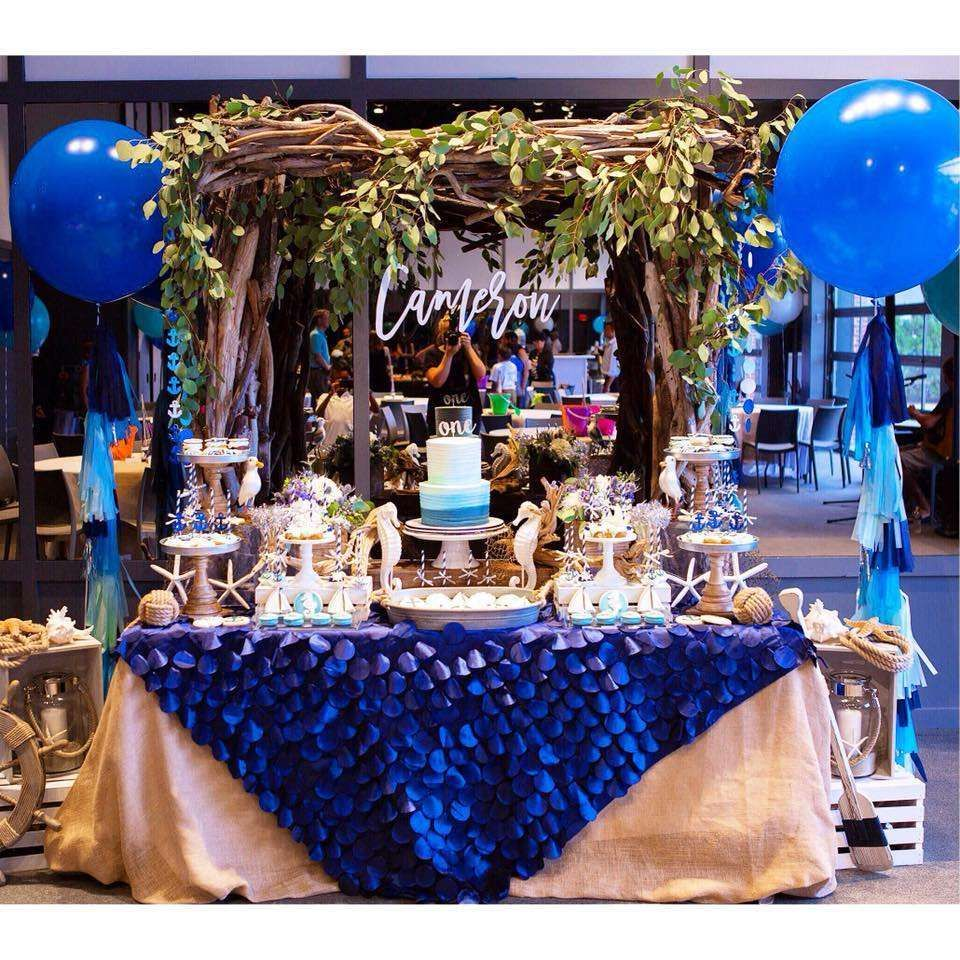 Blue Ombre Rustic Nautical Birthday Party Ideas Blue ombre Ombre