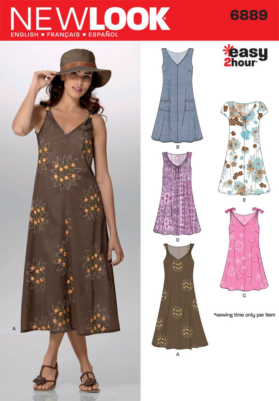 8630d2bbdb00 New Look 6889 MISSES DRESSES | Sewing Stuff | Sewing summer dresses ...