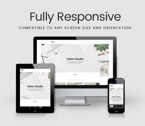Valon - Minimal Portfolio WordPress Theme | Wordpress Themes | Pinterest