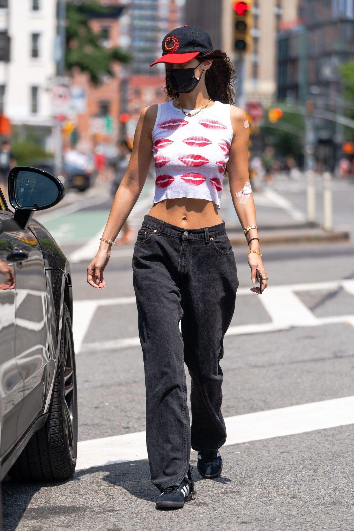 Bella Hadid's Pantless Look Is Definitely Not Fall-Approved