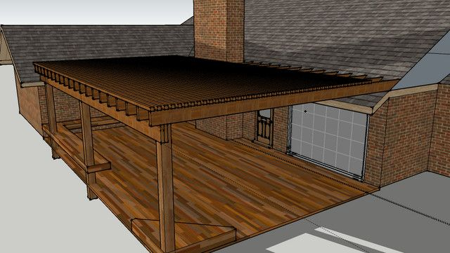 Attaching pergola to shingle roof - Porches Decks Forum - GardenWeb - Attaching Pergola To Shingle Roof - Porches Decks Forum - GardenWeb