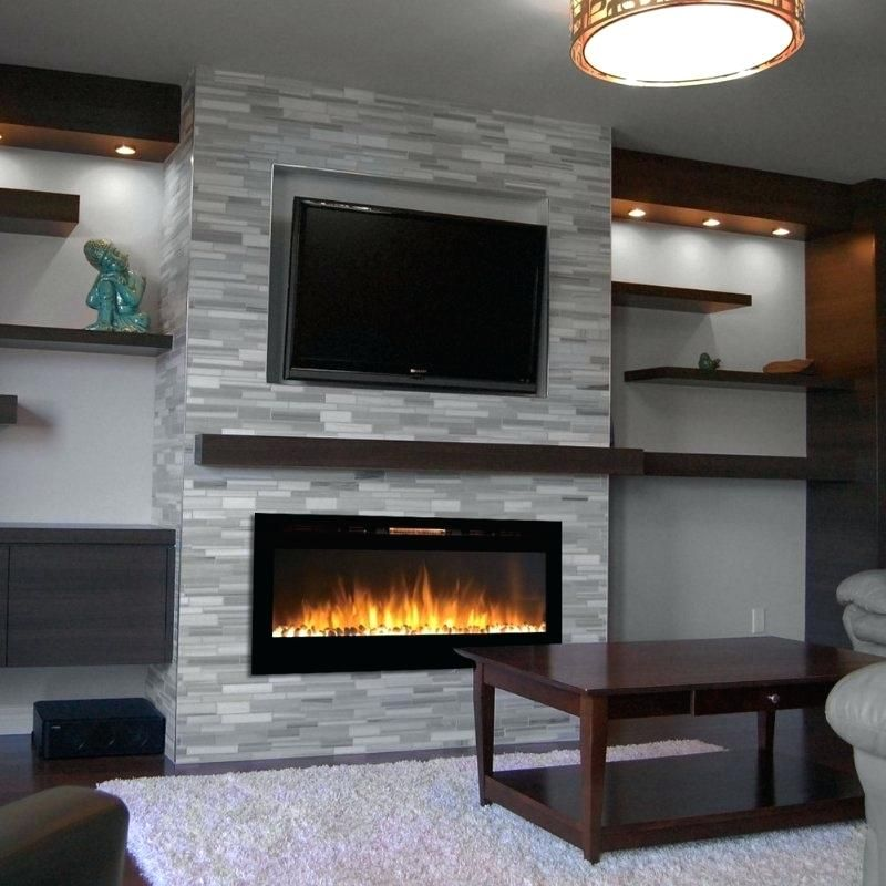 Small Wall Mount Electric Fireplace Chic And Modern Tv Wall Mount