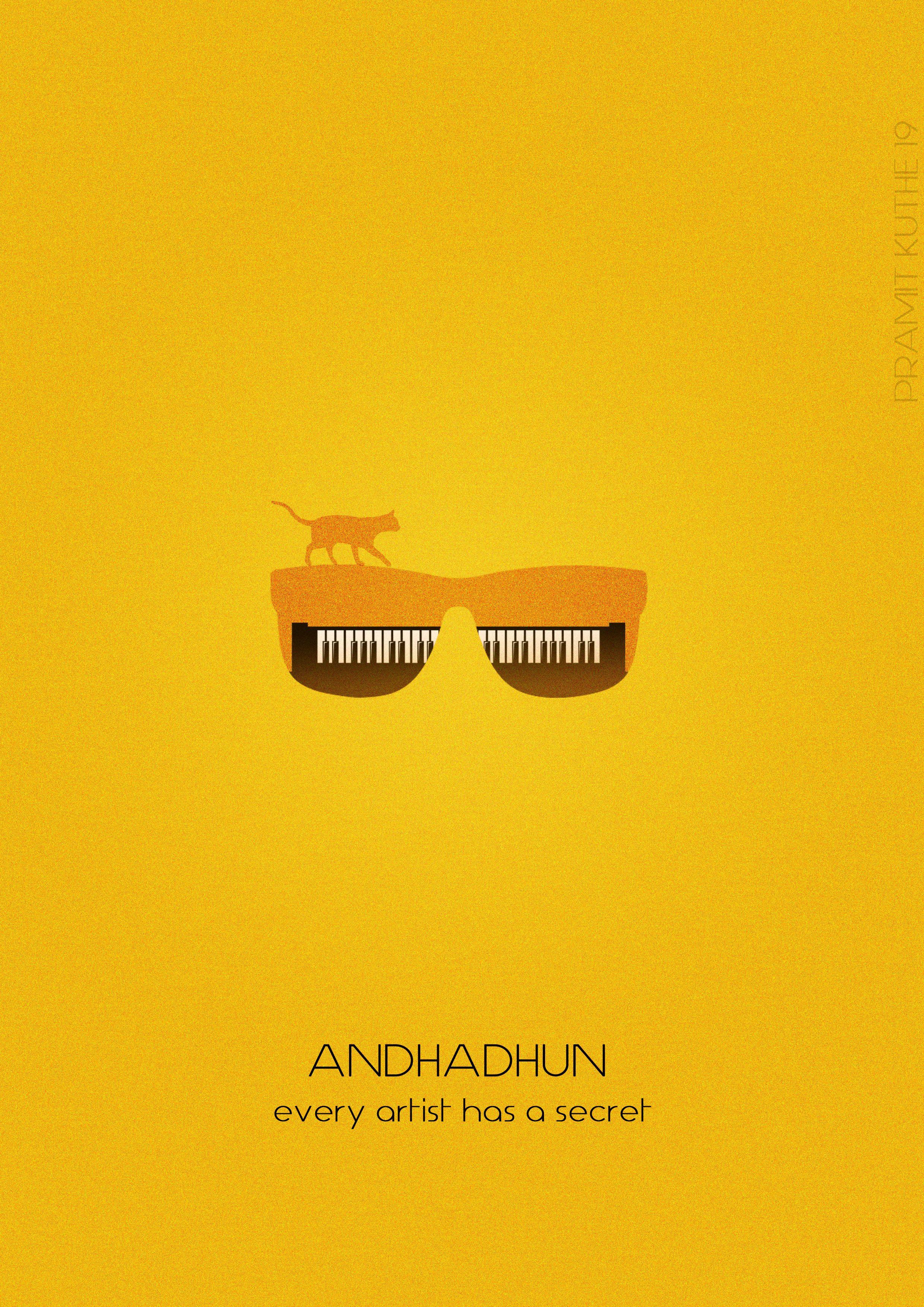 Andhadhun Bollywood Posters Minimal Poster Minimal Movie Posters