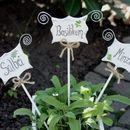 Pflanzen- & Gartenstecker - Blumenstecker, Gartendeko, Kräuter - ein Designerstück von anna-rackwitz bei DaWanda