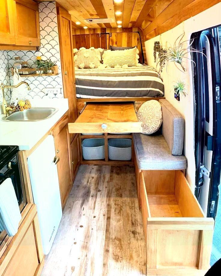 Viele Leute Fragten Wo Die Bank Hingegangen Ist Als Ich Sie Nicht Benutzen Wollte Wohnmobilumbau Mikrohaus Design Kastenwagen In Wohnmobil Umbau