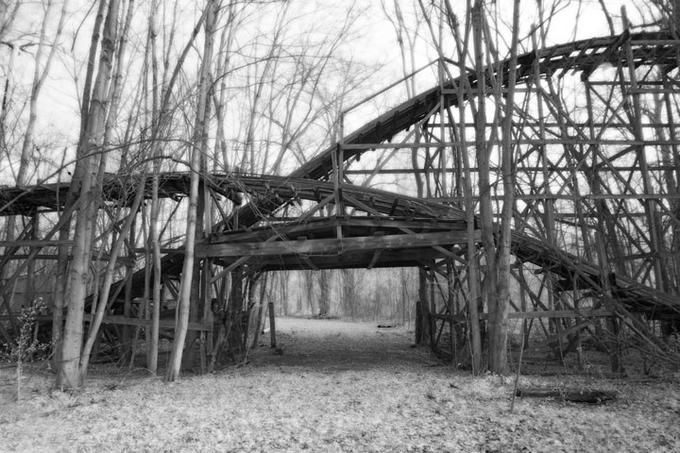 rollercoaster at Chippewa Lake Park, Ohio Abandoned Amusement Parks Album by Bruce Giffin