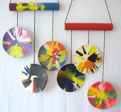 Spin art mobiles all things paint tempera finger acrylic water spin art mobiles solutioingenieria Gallery