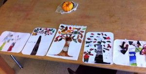 How to Make (Recycled) Collage Tree Art with Kids: Great raining day craft project!