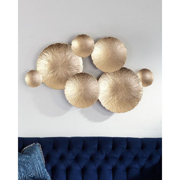 Ares Gold-Tone Wall Decor ($420) ❤ liked on Polyvore featuring home, home decor, wall art, gold, textured wall art and handmade home decor