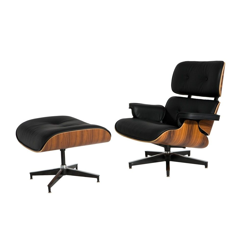 Eames Replica Leather Lounge Chair and Ottoman *always