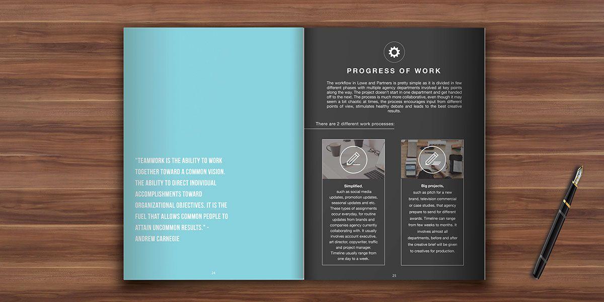 Internship Report Book Design On Behance  Portfolio  Layout