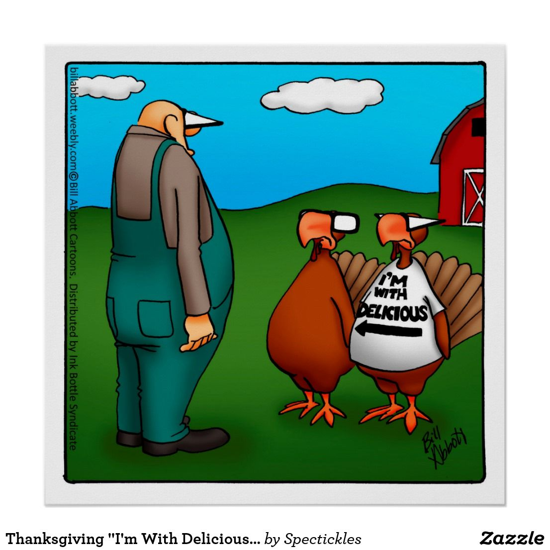 """Thanksgiving """"I'm With Delicious"""" Poster 