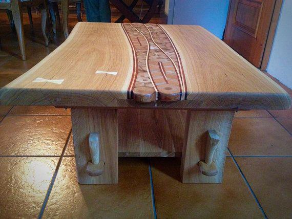 Unique Solid Wood Handmade Oak Coffee Table Unusual Coffee