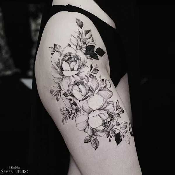 blumen tattoos mit diana severinenko tattoo tattoo. Black Bedroom Furniture Sets. Home Design Ideas