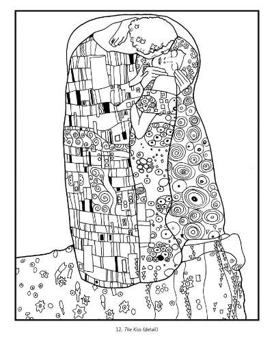Klimt Coloring Book Klimt Art Klimt Gustav Klimt Art