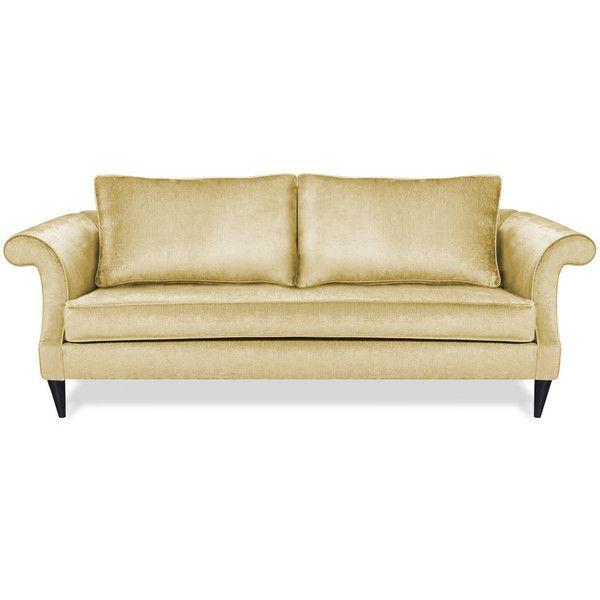 Lynds U0026 Lola Eco Friendly Maddy Apartment Sofa Ice By ($1,109) ❤ Liked