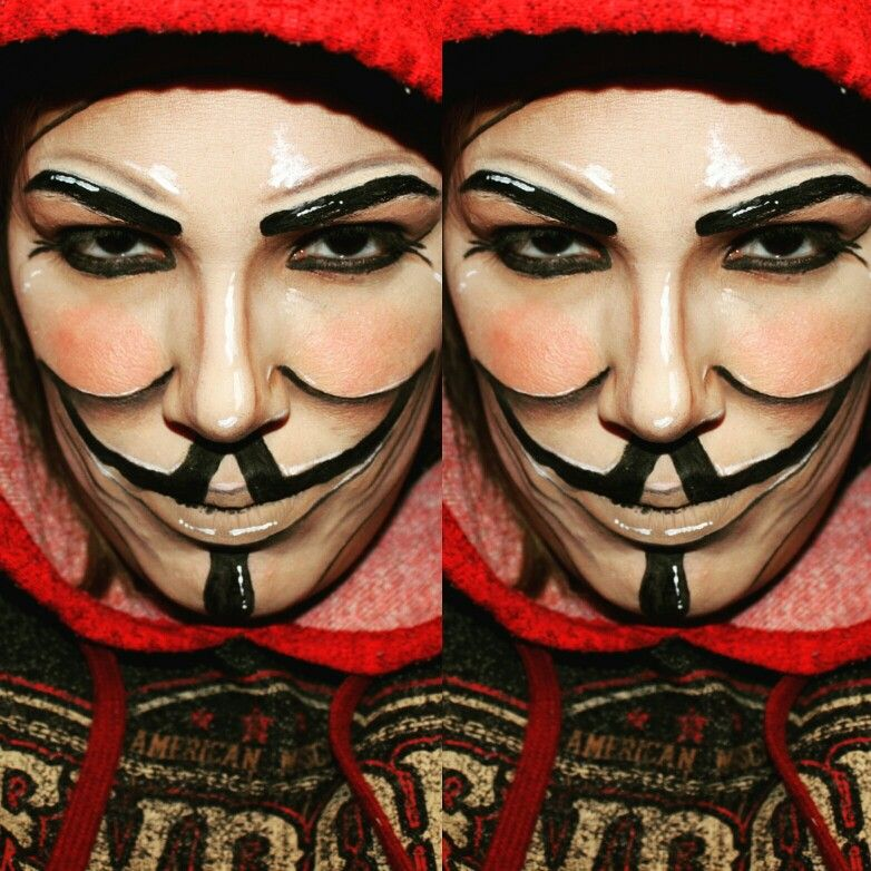 Anonymous mask DIY under 3.00 sawrawlee Mask makeup