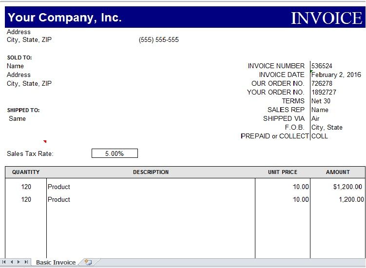 Sample of Invoice Excel Template Excel Templates Pinterest - how to create a invoice in excel